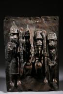 Plaque En Bronze Du Royaume D'Ifé - Art Africain
