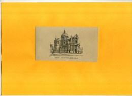 - BELGIQUE . NAMUR . LA CATHEDRALE SAINT AUBAIN . ZINCO FIN XIXe S. DECOUPEE ET COLLEE SUR PAPIER - Prints & Engravings