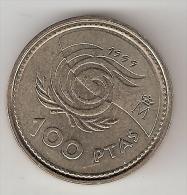 Spain  100 Pesetas  1999    Km 1006   Xf+ - [ 5] 1949-… : Royaume