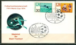 GERMANY Cover With Set With Cancel Frankfurt With Ball - Coppa Del Mondo