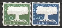 Germany Bund 1957 Mi 268-269 CEPT MNH - Oblitérés