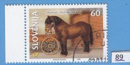 SLOVENIA 1999; Mi: 263; USED CTO; Horses, Slovene Cold Booded Horse - Slovenia