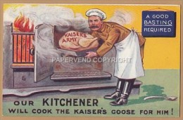 WW1  KITCHENER Cooking Kaiser's Goose  1w107 - Guerre 1914-18