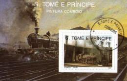 S. TOME´ E PRINCIPE 1989   TRENI   BF  Usati / Used °° - Treni