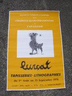 Affiche Ancienne Originale Tapisserie Et Lithographies De Jean Lurçat En 1970 à Cavaillon - Posters