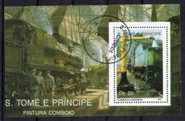 S. TOME´ E PRINCIPE 1989   TRENI   BF  Usati / Used °° - Trains