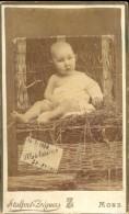 Foto Hard Karton Photo Sur Carton - Meisje Fille Madeleine 1888 - Photographe Stalport - Zéguers - Mons - Ohne Zuordnung