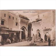 TETTP1003-LFT1160.Marruecos.Maroc .Morocco.TARJETA   POSTAL DE TETUAN ESPAÑOL.2 Mezquitas Y Personal. - Islam
