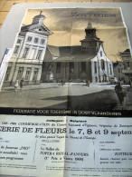 Affiche poster FEEERIE FLEURS  Zottegem commemoration Egmont 7-9 september 1968 le plus grand tapis de fleur de l�Europe