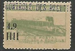 ALGERIE COLIS POST YVERT  N� 133 / MAURY N� 146  NEUF** TTB / MNH