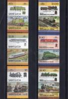 TRAINS / ZÜGE / TRENI - SAINT LUCIA  LOCOMOTIVES  - MNH - Trains