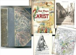 """Au PAYS Du CHRIST"" Egypte Egypt Palestine Carte Map Moyen Orient Eglise Christianisme Church Landrieux Ca 1900 ! - Religión"