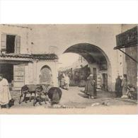 TETTP1005-LFT1173.Marruecos.Maroc .Morocco.TARJETA   POSTAL DE TETUAN ESPAÑOL.arquitectura ARABE,comercio,burros - Mercaderes