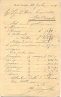 ING. EDOARDO CAGNOLA - PIAZA VITTORIO EMANUELE 2 - BUSTO ARSIZIO ANNO 1914 ORIGINAL - Italie