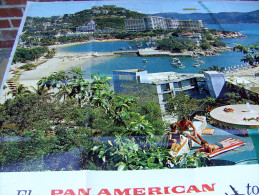 Affiche poster FLY PAN AMERICAN AIRLINE to Mexico