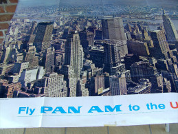 Affiche poster FLY PAN AMERICAN AIRLINE to the U.S.A.