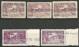 ALGERIE COLIS POST YVERT  N� 90�94 / MAURY N� 105-09  NEUF** LUXE / MNH