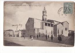 Carte 1915 CAZOULS LES BEZIERS / PLACE DE LA REPUBLIQUE - Autres Communes