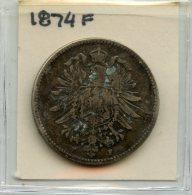 Germany 1 Mark 1874F - [ 2] 1871-1918 : Imperio Alemán