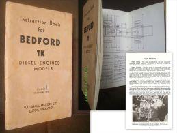 Instruction Book: BEDFORD TK Diesel Engined Models Mecanique Camion Truck Lastwagen (Automobile Auto) VAUXHALL 1964 ! - Ingénierie