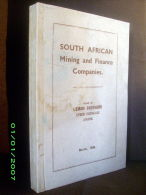 """""""SOUTH AFRICAN MINING & FINANCE COMPANIES"""" Mine Miene Or Gold Afrique Du Sud Colonie Colony South Africa Afrika 1936 ! - Ingénierie"""