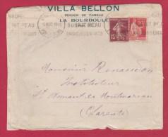 Enveloppe  //  De La Bourboule    //  Pour Saint Amant Le Montmoreau   //  15/07/37 - 1921-1960: Modern Tijdperk