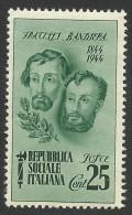 Italy, Social Republic, 25 C. 1944, Scott # 32, MH - 4. 1944-45 Social Republic