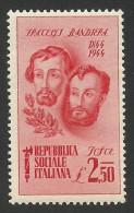 Italy, Social Republic, 2.50 L. 1944, Scott # 34, MH - 4. 1944-45 Social Republic