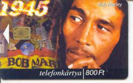 Telecarte A PUCE HUNGRIE  *  BOB MARLEY * MUSIQUE * Phonecard * TELEFONKARTE HUNGARIA * HUNGARY - Musique