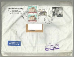 POLAND POSTAL USED AIRMAIL COVER TO PAKISTAN - Ohne Zuordnung