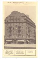 TEMESVAR TEMISOARA  Hotel PENSION CENTRAL  YEAR 1934 Did Not Travel - Romania