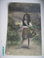 LITTLE  GIRL  FILLETTE  2 , OLD POSTCARD , 0 - Portretten