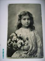 LITTLE  GIRL  FILLETTE  3 , OLD POSTCARD , 0 - Portretten