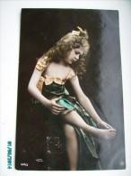 LITTLE  GIRL  FILLETTE  13  , ORANOTYPIE  , OLD POSTCARD , 0 - Portretten