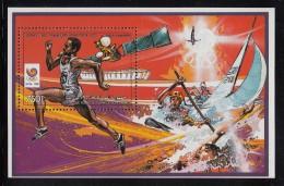Comoro Islands MNH Scott #653 Souvenir Sheet 750fr Track & Field - 1988 Summer Olympics Seoul - Comores (1975-...)