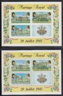 Comoro Islands MNH Scott #524a Souvenir Sheet & Imperf Royal Wedding - Charles & Diana - Comores (1975-...)