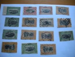 CONGO BELGE LOT DE 15 TIMBRES TYPE MOLS NEUFS CHARNIERE/OBLITERES/DEPAR T 1 EURO