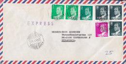 Spain Airmail Aereo EXPRESS (Purple) Line Cds. WILLIAMS & HUMBERT, JEREZ DE LA FRONTERA 1989 Cover Letra (2 Scans) - Luftpost