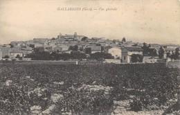 CPA 30 GALLARGUES VUE GENERALE - Gallargues-le-Montueux
