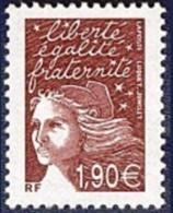 France Marianne Du 14 Juillet N° 3575 A ** Luquet Le 1.90 Prune Sans Bande De Phosphore - 1997-04 Marianna Del 14 Luglio