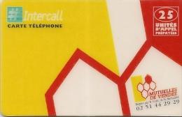 -CARTE-PREPAYEE-INTERCALL-25U-MUTUELLES DE VENDEE-01/06/1998-TBE-LUXE - France