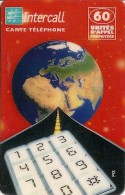 -CARTE-PREPAYEE-INTERCALL -60U-FRANCE-31/12/2000-N° CODE Sur Fond Blanc-GRATTEE-TBE- - Autres Prépayées