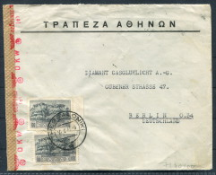 1943 Greece Thessaloniki OKW Censor Zensur Brief - Berlin - Covers & Documents