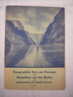 Guide Touristique Ancien De Norvège En Allemand Avec Carte Topographique - Norvège