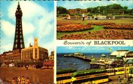SOUVENIR OF BLACKPOOL CARTE MULTIVUES - Blackpool