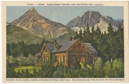 Slovakia 1921. Tatry Kastiel Kniezata Hohenlohe,Stit Legionarov - Slovakia