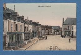 CPA Glacée Couleur - LA SUZE - Le Centre - Editeur G. Ronciére - Belle Terrasse De Café - Attelage - La Suze Sur Sarthe