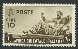 Italian Eastern Africa, 10 C. 1938, Scott # 4, MH - Italian Eastern Africa