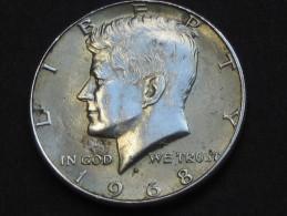 Half  - 1/2 Dollar 1968 D - KENNEDY - Silver - Etats-Unis - United States - USA **** EN ACHAT IMMEDIAT **** - Federal Issues