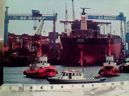 GERMANY  BREMEN  PORT HAFEN  NAVE SHIP CARGO LLOYD TANKER  BONN  RIMORCHIATORE  N19685 EM8630 - Bremerhaven